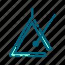alarm, instrument, isntrument, music, triangle icon