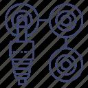 amplifier, audio, connect, plug icon