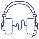 headphones, headset, monitor, music icon