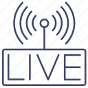 broadcast, live, performent, show icon