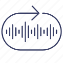 loop, music, playlist, repeat icon
