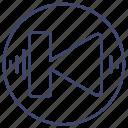 control, media, previous, song icon