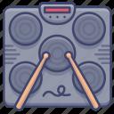 drum, electronic, machine, portable