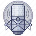 microphone, recording, singing, studio icon