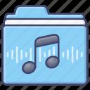 digital, files, folder, music icon
