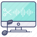 computer, cut, music, software icon