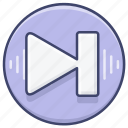 control, music, next, song icon