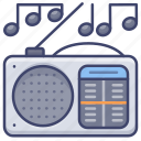 electronic, fm, music, radio icon