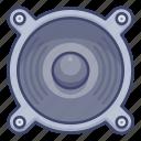 bass, monitor, soundbox, speaker icon