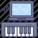 music, controller, keyboard, midi icon