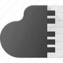 clap, instrument, key, music, pian, piano, play icon