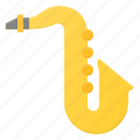 instrument, music, play, saxophone icon