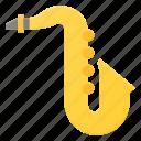 instrument, music, play, saxophone