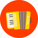 accordion, audio, harmonica, melodeon, musical, sound, squeezebox icon