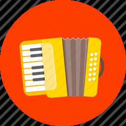 accordion, audio, harmonica, melodeon, musical, sound, squeezebox icon