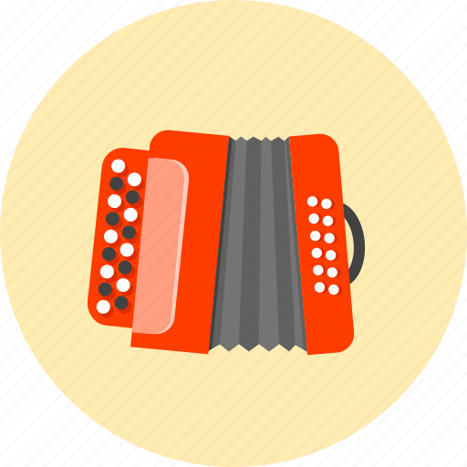 accordion, audio, bayan, garmon, instrument, musical, squeezebox icon
