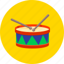 drum, drum sticks, equipment, instrument, musical, sticks, tool icon