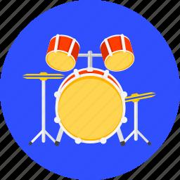 band, concert, drum, drums, music, set, sound icon