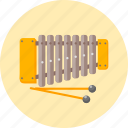 cimbalom, cymbal, dulcimer, glockenspiel, musical instrument, musical tools, sticks icon