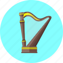 concert, harp, instrument, lyre, musical, orchestra, sound icon