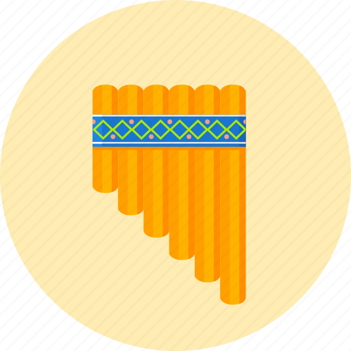 blowing instrument, instrument, kugikly, musical, pan-pipe, pandean pipe, panflute icon