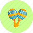 audio, instrument, maracas, music, musical, shaker, sound icon