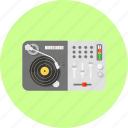 audio, club, disco, dj, electric, mixer, music icon