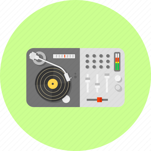 audio, club, disco, dj, electric, mixer, music icon