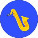 instrument, music, musical, sax, saxophone, sound, trumpet icon