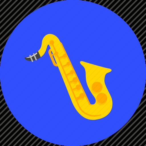 instrument, music, musical, sax, saxophone, sound, trumpet icon