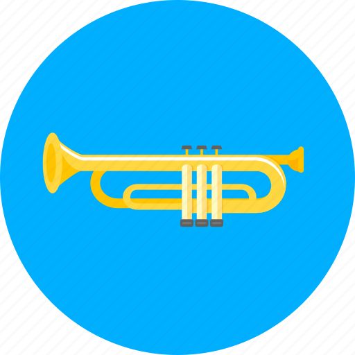 equipment, instrument, music, musical, sound, tool, trumpet icon