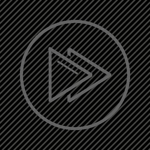 faster, forward, music, rewind icon