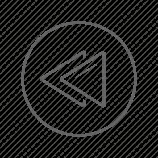 back, backward, rewind, speed icon