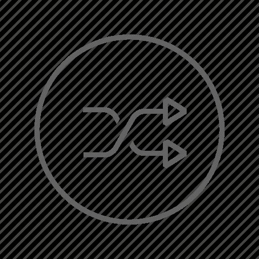 control, music, random, shuffle icon