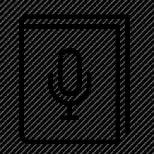 audio, book, ios, listen, reading, recording, story icon