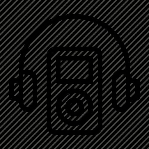 apple, earphones, headphones, ios, ipod, music, player icon
