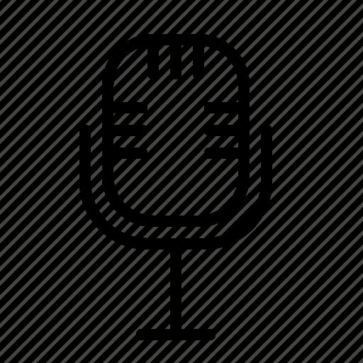 audio, ios, microphone, old, radio, record, speak icon