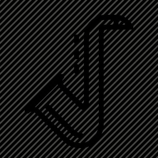 band, brass, instrument, ios, jazz, music, saxophone icon