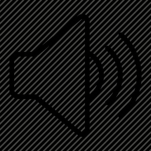 high, ios, noise, sound, volume icon