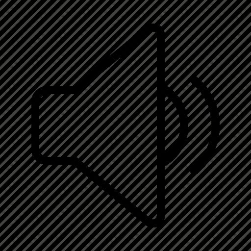 audio, ios, medium, music, sound, speaker, volume icon
