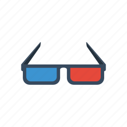 3d, cinema, film, glasses, movie icon