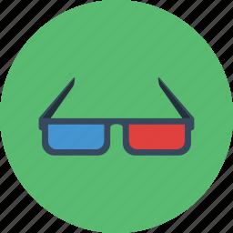 3d, glasses icon