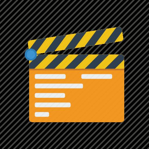 clap, film, movie, video icon