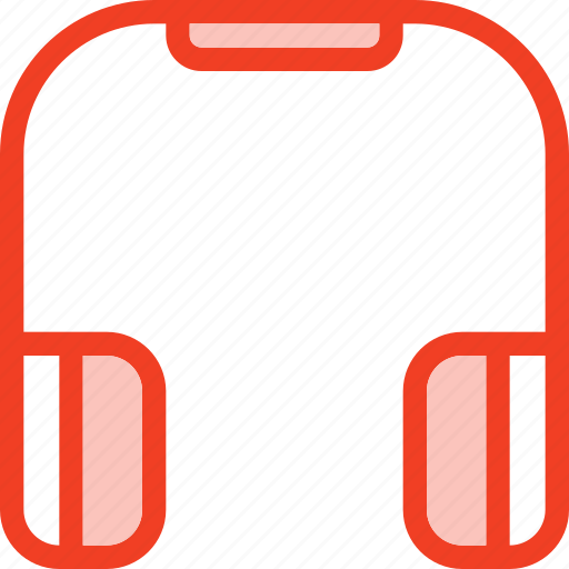 filled, headphone, media, music, outline icon