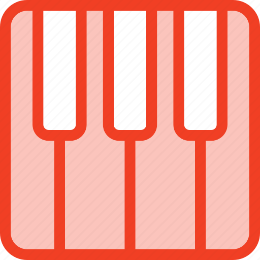 filled, media, music, outline, piano icon