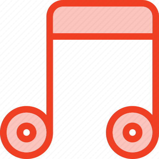 filled, media, music, note, outline icon