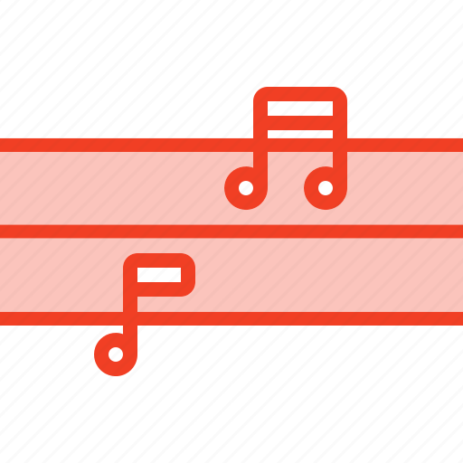 filled, media, melody, music, outline icon