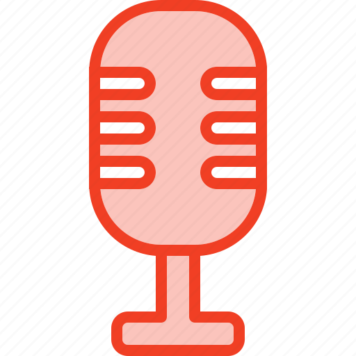 filled, media, microphone, music, outline icon