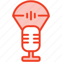 filled, media, microphone, music, outline, receive, signal icon