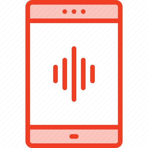 app, filled, media, music, outline, smartphone, sound icon